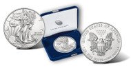 2014-W Burnished Silver Eagle- Original Mint Box