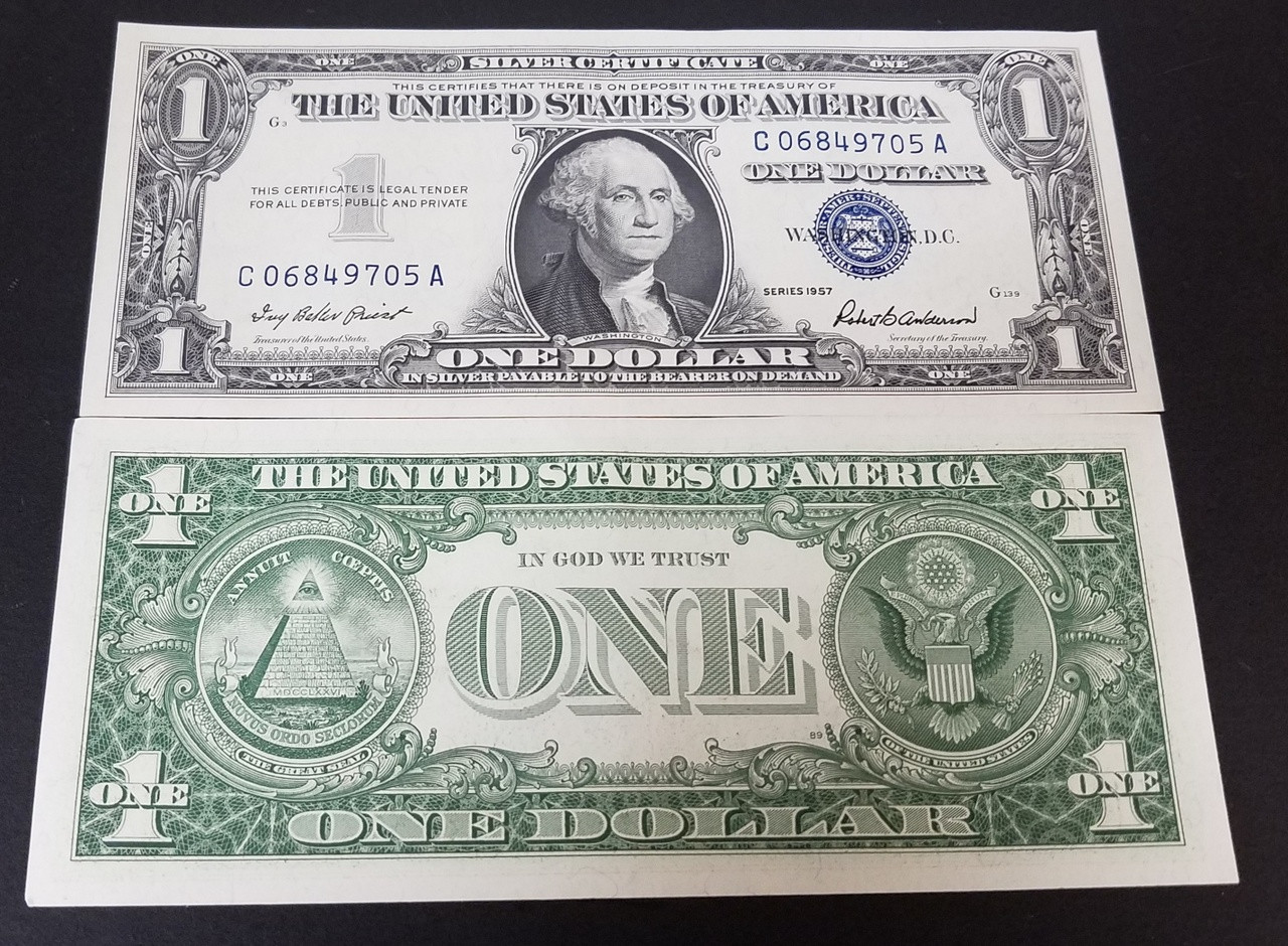 1 Silver Certificate Series 1957 International Currency Llc