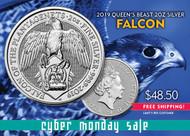 2019 Queen's Beast Silver Falcon 2 Oz