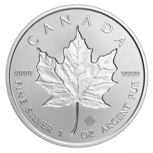 2019 Silver Maple Leaf incuse