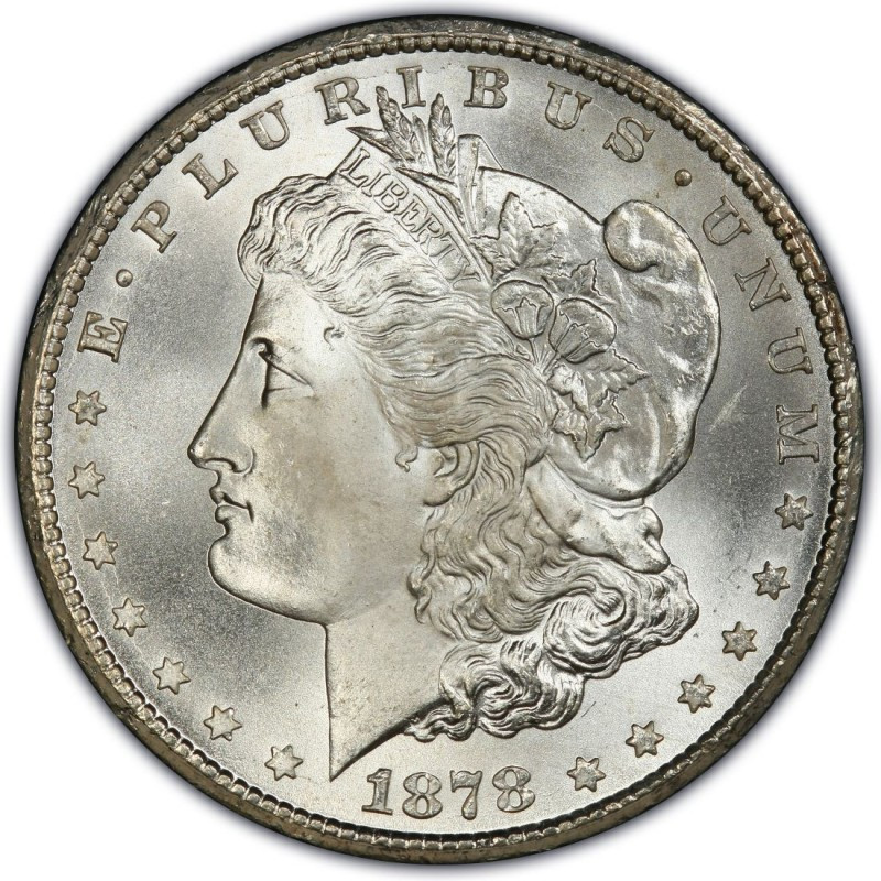 1878 Morgan Silver Dollar First Year Of Issue Xf To Au