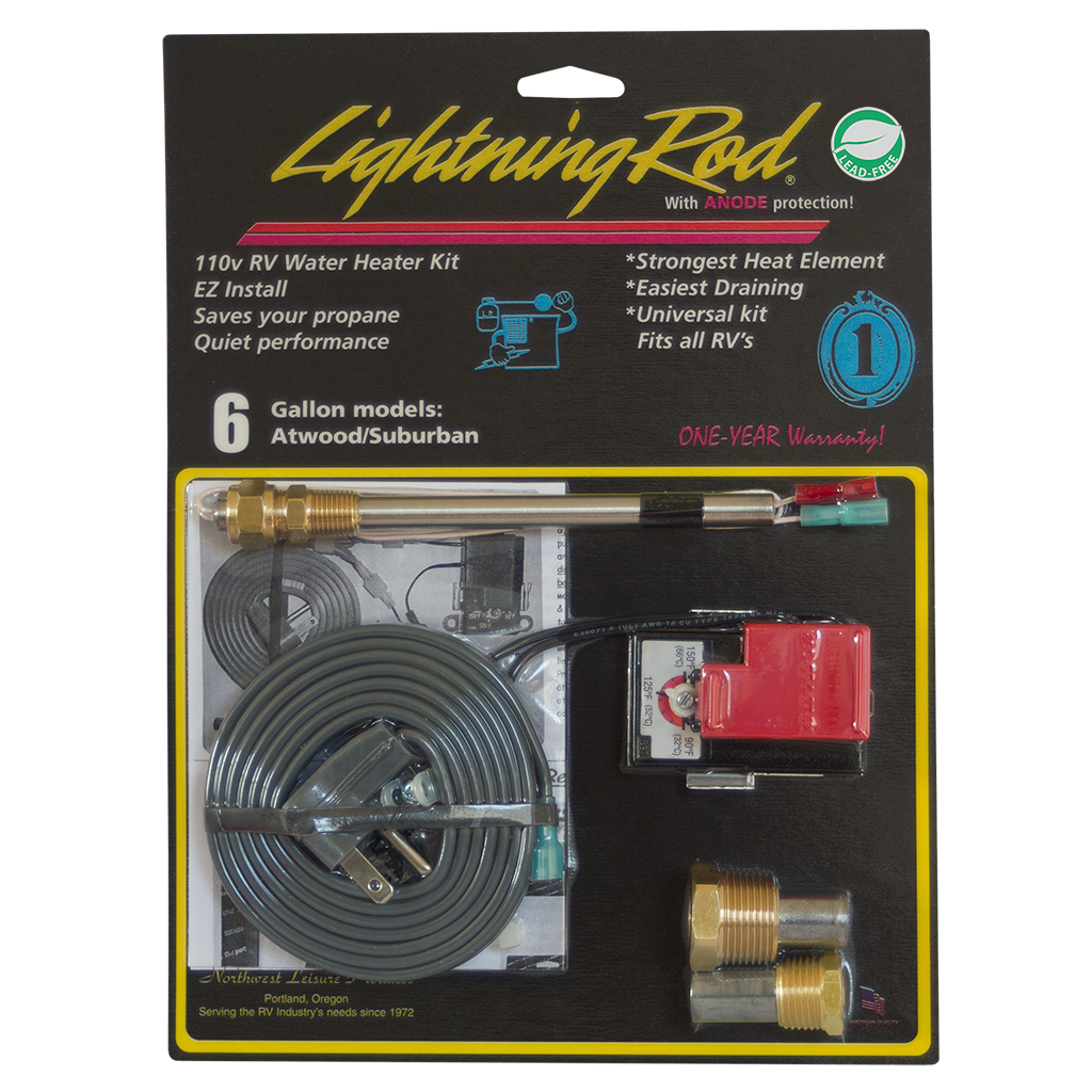 Electric Conversion Kit Lightning Rod Water Heater 6 Gallon Suburban Camper Furnace Wiring Atwood