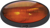 Optronics RVPL7AB RV Camper Amber Oval 12v Porch Utility Light Black w/ Switch