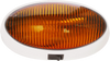 Optronics RVPL7A RV Camper Amber Oval 12v Porch Utility Light White w/ Switch