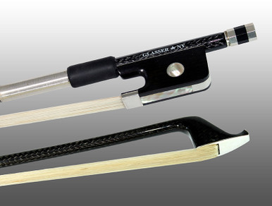 Glasser Braided Carbon Fiber Cello Bow, Round Stick