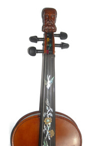 Rickert Philosopher King Special Edition Fiddle by D. Rickert Musical Instruments (front detail)