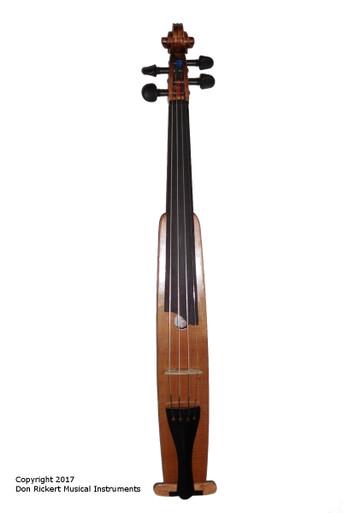 Mountaineer VIII M2 Travel Violin Front View - Instrument by D. Rickert Musical Instruments (Don Rickert Musician Shop)