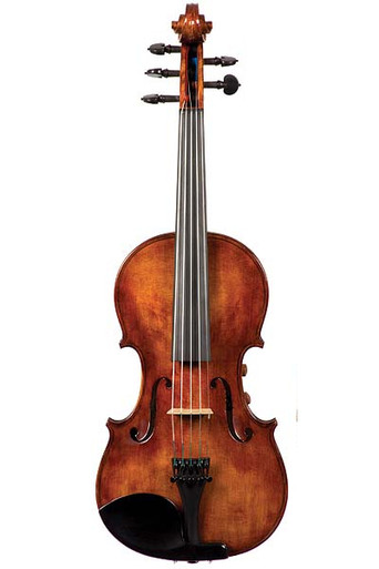 The Realist Model RV5Pe Professional 5-String Amplified Acoustic (Acoustic-Electric) Violin (front)