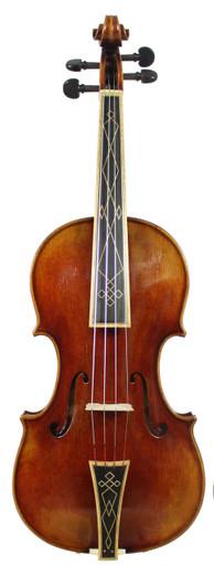 Stradivari Post-1700 Pattern Baroque Violin D. Rickert Musical Instruments (front)