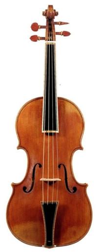 Stradivari Post-1700 Pattern Baroque Violin by D. Rickert (front)