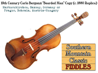Strad Copy with Bearded Man Finial (Scroll)