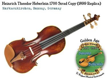 Heinrich Theodor Heberlein 1700 Strad copy (1899 Replica)