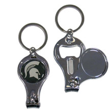 Michigan State Spartans 3 in 1 Keychain NCCA College Sports C3KC41