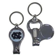 North Carolina Tar Heels 3 in 1 Keychain NCCA College Sports C3KC9