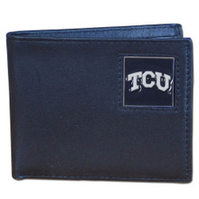 TCU Horned Frogs Black Bifold Wallet NCCA College Sports CBI112