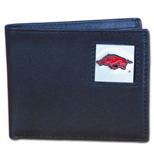 Arkansas Razorbacks Black Bifold Wallet NCCA College Sports CBI12