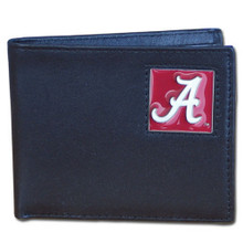 Alabama Crimson Tide Black Bifold Wallet NCCA College Sports CBI13