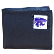 Kansas State Wildcats Black Bifold Wallet NCCA College Sports CBI15