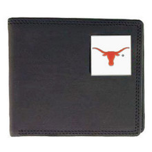 Texas Longhorns Black Bifold Wallet NCCA College Sports CBI22
