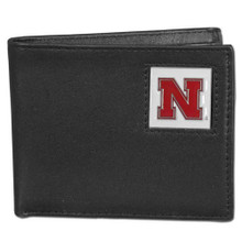 Nebraska Cornhuskers Black Bifold Wallet NCCA College Sports CBI3