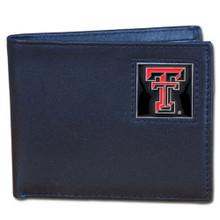 Texas Tech Raiders Black Bifold Wallet NCCA College Sports CBI30