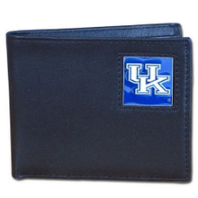 Kentucky Wildcats Black Bifold Wallet NCCA College Sports CBI35