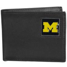 Michigan Wolverines Black Bifold Wallet NCCA College Sports CBI36