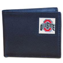 Ohio State Buckeyes Black Bifold Wallet NCCA College Sports CBI38