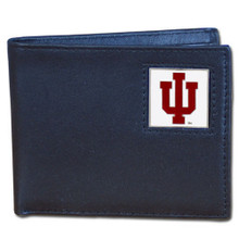 Indiana Hoosiers Black Bifold Wallet NCCA College Sports CBI39