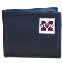 Mississippi State Bulldogs Black Bifold Wallet NCCA College Sports CBI45