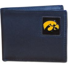 Iowa Hawkeyes Black Bifold Wallet NCCA College Sports CBI52