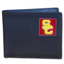 USC Trojans Black Bifold Wallet NCCA College Sports CBI53