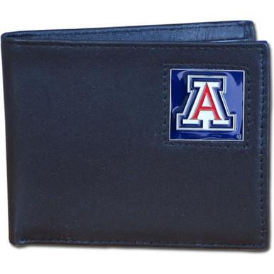 Arizona Wildcats Black Bifold Wallet NCCA College Sports CBI54
