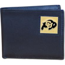 Colorado Buffaloes Black Bifold Wallet NCCA College Sports CBI57