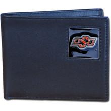 Oklahoma State Cowboys Black Bifold Wallet NCCA College Sports CBI58