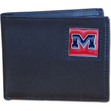 Mississippi Rebels Black Bifold Wallet NCCA College Sports CBI59