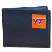 Virginia Tech Hokies Black Bifold Wallet NCCA College Sports CBI61