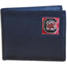 South Carolina Gamecocks Black Bifold Wallet NCCA College Sports CBI63