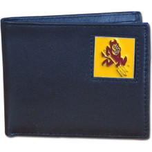Arizona State Sun Devils Black Bifold Wallet NCCA College Sports CBI68