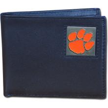 Clemson Tigers Black Bifold Wallet NCCA College Sports CBI69