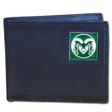 Colorado State Rams Black Bifold Wallet NCCA College Sports CBI76