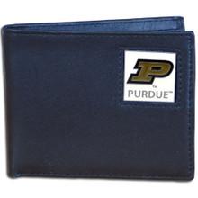 Purdue Boilermakers Black Bifold Wallet NCCA College Sports CBI84