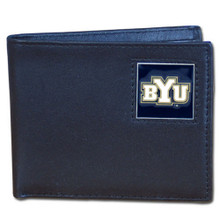 BYU Cougars Black Bifold Wallet NCCA College Sports CBI86