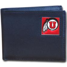Utah Utes Black Bifold Wallet NCCA College Sports CBI89