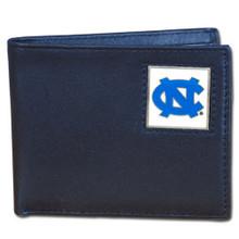 North Carolina Tar Heels Black Bifold Wallet NCCA College Sports CBI9