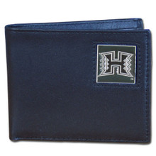 Hawaii Warriors Black Bifold Wallet NCCA College Sports CBI99