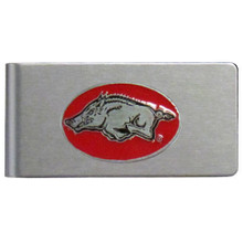 Arkansas Razorbacks Brushed Money Clip NCCA College Sports CBMC12