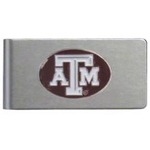 Texas A&M Aggies Brushed Money Clip NCCA College Sports CBMC26