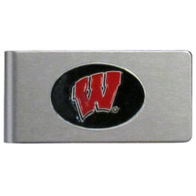 Wisconsin Badgers Brushed Money Clip NCCA College Sports CBMC51