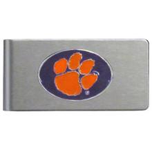 Clemson Tigers Brushed Money Clip NCCA College Sports CBMC69